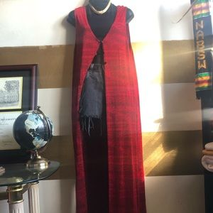 Coldwater Creek red sleeveless duster.